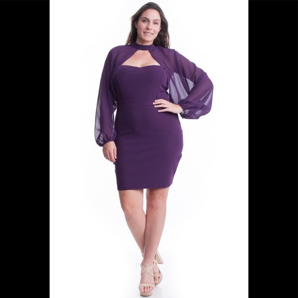 I'M SO PLUM DRESS PLUS SIZE